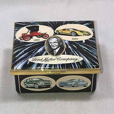 Rare Find! Halcyon Days Enamel Box - 100 Years Of Ford Motor Company