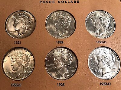 Wonderful Complete 1921-1935 Peace Dollar Set, Lustrous, Very High Grade/Details