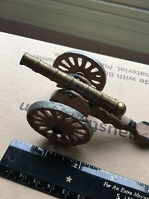 Vintage Die Cast Napoleon 12 Pounder ACW Artillery Gun 54mm Brass And Metal
