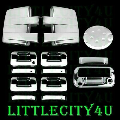 09-2014 FORD F150 Chrome Mirror+4 Door Handle w/o Kp+Tailgate w/Cam+Gas Cover
