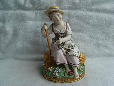 Vintage Sitzendorf Porcelain Figure Figurine Seasons Series Continental