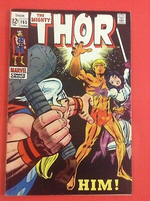 Thor 165  Silver Age Mid Grade First Appearance of Adam Warlock Him