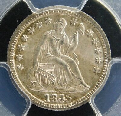 Pcgs Ms64 1845 Seated Half Dime