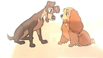 """DISNEY """"LADY AND THE TRAMP"""", LIMITED EDITION SERIGRAPH, matted and framed"""