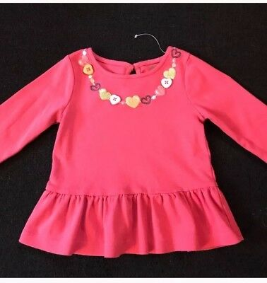 Pink Baby Girls Gymboree Long Sleeve Top Size 12-18 Months