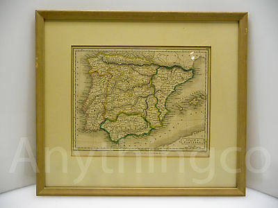 1826 - Map Spains & Portugal - Sidney Hall London