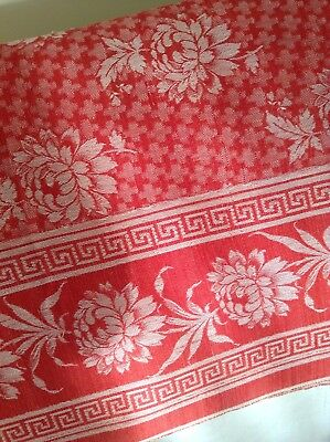 "Beautiful Antique Turkey Red Tablecloth Approx. 54"" X 82"""