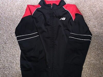 New Balance Black And Red Zip Up Jacket...boy's Size 7