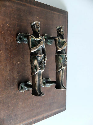 Vintage Antique Style Solid Brass Pair Of Door Handles Pulls