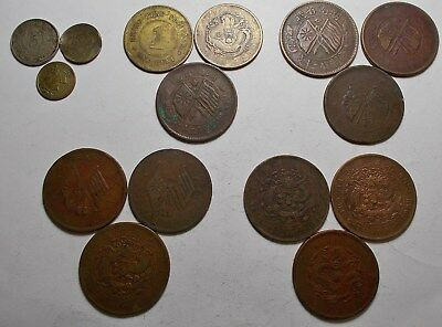 China Miscellaneous Denominations 15 Coins You I.d., You Grade