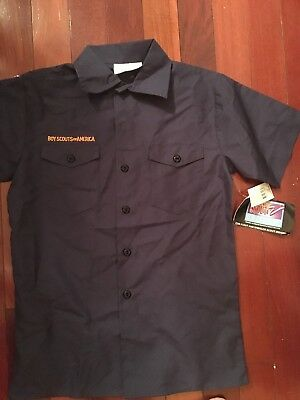 Official Youth LARGE CUB SCOUT SHIRT USED BSA Boy Scouts of America
