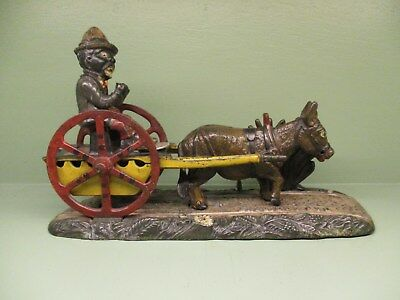 "Cast Iron ""BAD ACCIDENT"" Mechanical Bank Original Antique Americana Toy"