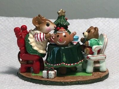 Wee Forest Folk M-177 Tea for Three Special Limited Christmas