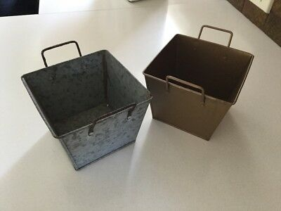 Metal planters/flower boxes
