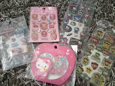 Hello Kitty Sanrio puffy sticker lot New vintage