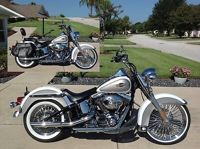 2008 Harley-Davidson Custom Heritage Softail Classic FLSTC  Absoutely Immaculate Heritage With All The Right Custom Touches - Just Completed