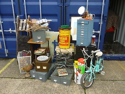 VINTAGE job lot Cabinets Drawers Mirror Chair Stool Table Ladders Bike Map +++++