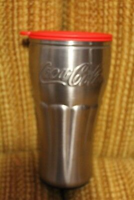 COCA-COLA Stainless Steel 16 Oz. Thermo-Serv Insulated Travel Cup Mug