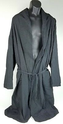 Polo by Ralph Lauren Men's L / XL Cotton Black Checker  Bath Lounge Robe