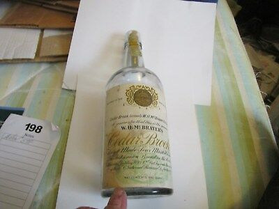 Whiskey - Bottle - Ceder Brook - 1912 - 1914 - Rare - Not Machine Made - Paper L