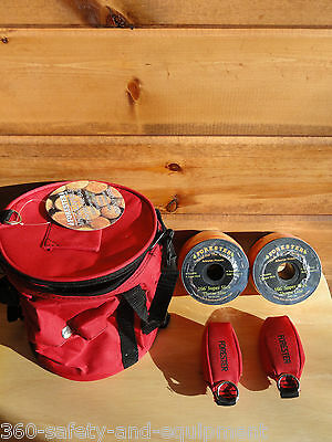 Arborist Tree Workers Throw Line Kit Rope Bag 2-15OZ Bags, 2 Rolls Of Thorw Line
