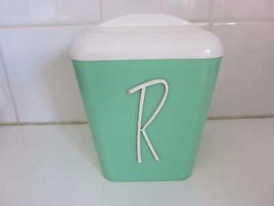 Vintage Retro Mint Green Fethalite Kitchen Canister  Rice Gay Ware