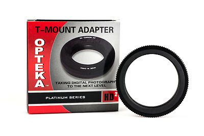 Opteka T-Mount T2 Adapter for Canon EF EOS 90D 80D 77D 70D 7D T7 T7i T7s T6i T6