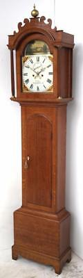 Fine Antique English Longcase Clock - Bury St Edmonds 8 Day Grandfather Clock