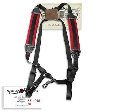 Walker & Williams SA-4012 Red Padded Saxophone Harness
