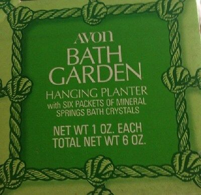 Vtg 1970's Avon Bath Garden Hanging Planter W/bath Crystals-New In Box-Free Ship