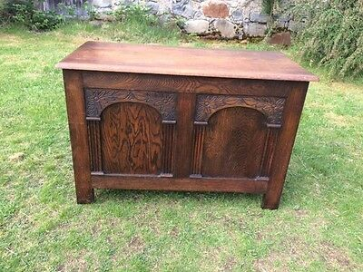 Antique Golden Oak Box / Chest