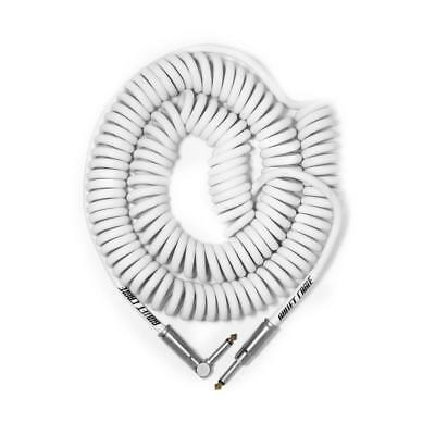 Guitar Cable Bullet Coil 25' White NEW