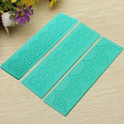New 3PCS Bakeware Lace Silicone Mold Cake Decorating Tools