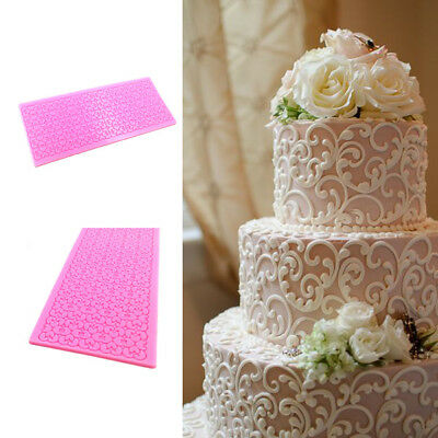 New Lace Silicone Cake Mold Fondant Print Mould Decorating Tool