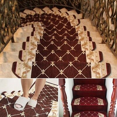 New European Style Pastoral Carpet Stair Tread Anti-skid Step Rugs Stair Mats