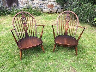 A Pair of Vintage Ercol  Armchairs