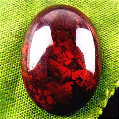CC06186 25x18x7mm Beautiful natural oval Chicken Blood Stone CAB cabochon