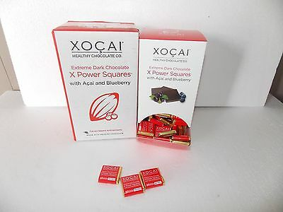 Xocai Healthy Chocolate Power Squares New Box 138 Pieces.  free shipping