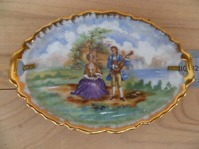 Vintage Old Small Size French China Dish, (G509)