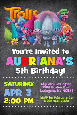 image about Printable Trolls Birthday Invitations named TROLLS Invites - Custom-made - Birthday Bash - Transported or Printable