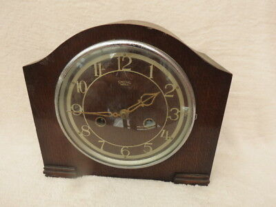 Vintage Working Smiths Enfield Striking Clock For Light Tlc