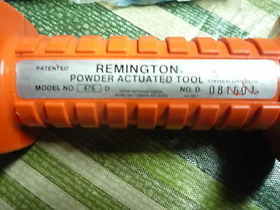 Remington Powder Actuated Tool 476 Power Fasteners Power Loads Stud Drivers