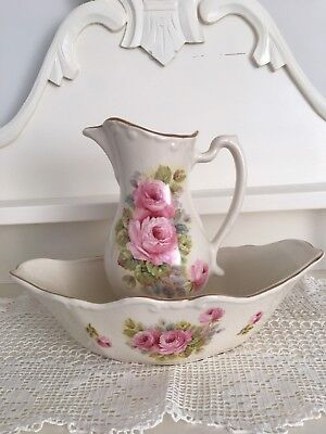Vintage Staffordshire Jug and basin Set