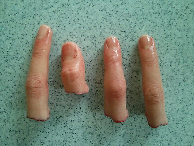 Severed Finger Prop - Realistic Prosthetic -  Halloween - Human - FX Movie Prop