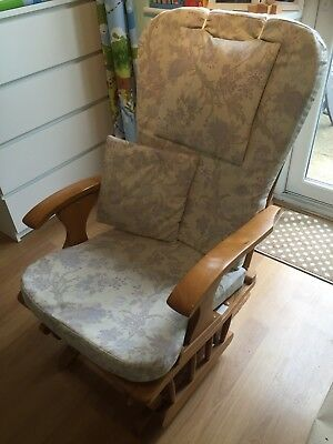 Gliding Nursing Chair with footstool