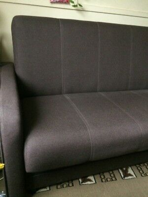 sofa bed with storage  brown colour