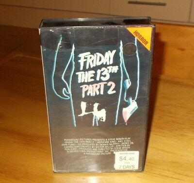 Friday The 13Th Part 2 Vhs Pal Cic Small Box Ex Rental