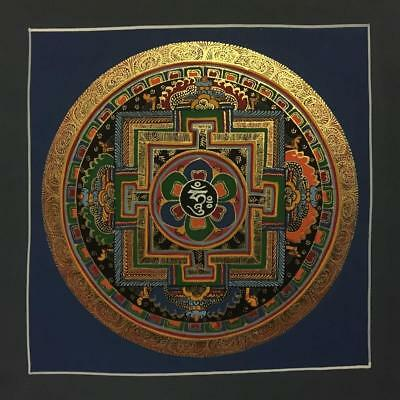 Original Handpainted Tibetan Chinese Mandala Thangka Painting Meditation Art b14