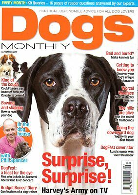 Dogs Monthly Magazine September 2015 PHIL SPENCER READ YOUR DOG CAVALIER