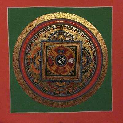 Original Handpainted Tibetan Chinese Mandala Thangka Painting Meditation Art b19